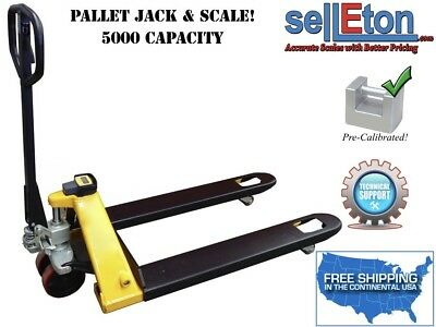 Pallet Jack With Scale System 5000 Lbs Capacity For Warehouse Shipping