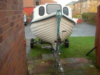 Arran 16 Boat for sale with detachable cuddy + tonneau cover + Snipe trailer - NO OUTBOARD