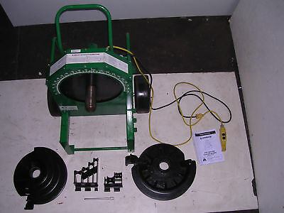 Greenlee 555 Conduit Pipe Bender 2 Rigid Pvc Shoes 2 Rollers 12 To 2 Imc Emt