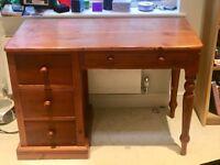 Excellent condition solid oak desk for sale.