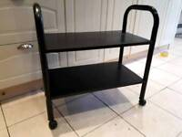 Black trolley table..