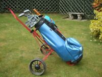 Complete Set Pro Drive Clubs (12) Golf Bag & Golf Cart