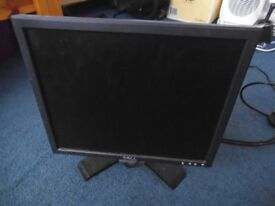 17 inch Dell Monitor with cables and stand