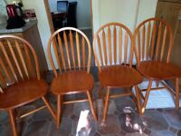 4 x Pine Dining Chairs