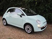 Fiat 500 Lounge, 2015, Smooth Mint, FDSH, 1 Lady Owner, Low Mileage, Fiat Warranty, HPI clear