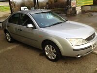SWAINSTHORPE MOTOR CO 2002 FORD MONDEO 1.8 LX SILVER MOT 5 SEP 2017