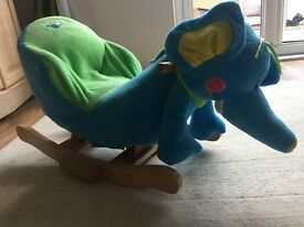 Childs fun elephant rocker