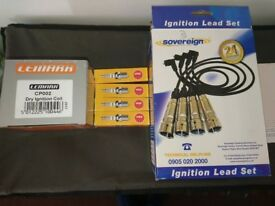 Brand new lexmark coil pack, ngk spark plugs and sovereign HT leads for ford focus