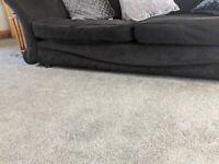 Two DFS black sofas