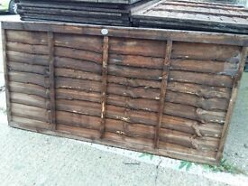 New unused 6 ft x 3 ft brown fence panels.