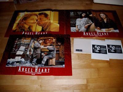 3 Großphotos und WR+FSK Karte:  ANGEL HEART    MICKEY ROURKE