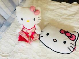 Hello Kitty Bear & Cushion