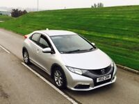 2012 Honda Civic 2.2 i DTEC Hatchback 5dr diesel silver***ONE OWNER**HIGH MILES**AVERAGE CONDITION