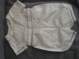 John Lewis Heirloom Collection baby satin (christening )outfit 12-18 m