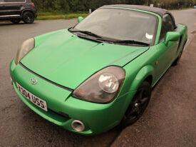 Rare colour green Toyota MR2 with sports exhaust upgrade