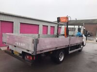 MITSUBISHI CANTER FUSO 7C15, 2014REG, DROPSIDE WITH 2ton HIAB, 84K FOR SALE, FINANCE AVAILABLE!!