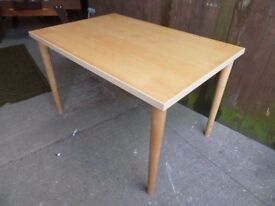 Modern Square Beach topped Dining Table Delivery Available £20