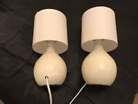 2 table lamps almost new