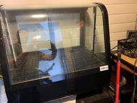 Countertop Food Display Fridge 100Ltr Black