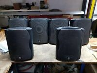 Instalation speakers including wall brackets 3 pairs 6 0ff 30W RMS 8 Ohm 2-Way