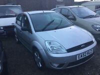 Ford Fiesta 52 reg in vgcondition lovely driver elec Windows in silver 5 dr hatchback any trial welc