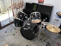 Olympic Black Vintage Premier Drum Kit