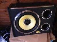 "12"" subwoofer with built in amp"