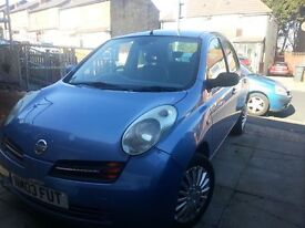 2003 NISSAN MICRA SE 1.4 5DOORS, AIR CONDITIONING WITH SERVICE HISTORY, START AND DRIVE