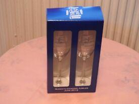 2012 Diamond Jubilee wine/champagne souvenir glasses