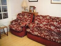 SOFA BED SET DOUBLE BED & SINGLE ARMCHAIR IN EXCELLENT CONDITION VERY CLEAN CAN ARRANGE DELIVERY