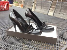 Ladies Pied A Terre Black Shoes - Size 4.5 (37)