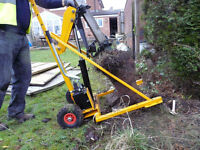 Post puller hire, Evesham,Cheltenham and worcester