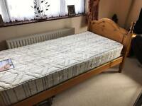Pine single bed delivery poss