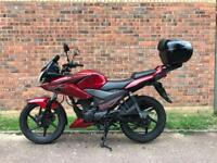 Honda CBF125 2014 v good condition Low mileage with Honda top box