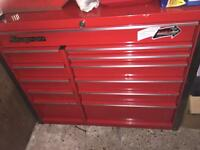 """42"""" snap on roll cab + tools"""