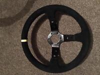 Deep dish steering wheel