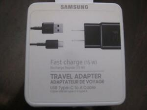 Samsung Adaptive Fast Charger. 15W. USB C Wall Charger. Samsung Galaxy S8 Plus / A5 / Google Pixel / ASUS Zenfone. NEW