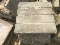 Reclaimed Wooden Plank Effect Paving Slabs 450x450