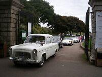 1959 White Ford Anglia