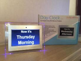 Day Clock x 2 For People Living with Memory Problems