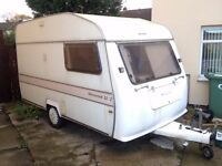 Silverline Silvercrest 12/2 Caravan - Super Rare Light Weight 2 Berth Tow With Fiesta Or Classic Car