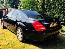 MERCEDES S CLASS S320L CDI LIMO 2.9 DIESEL 1 OWNER TOP OF THE RANGE DVD SAT NAV SAME BMW/VW/AUDI