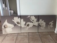 Set of 3 flower pictures