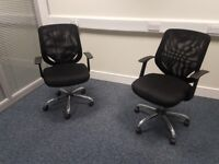 Executive office chairs in black