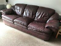 3 Piece Sofa Plum Colour