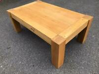 Solid oak coffee table possible delivery
