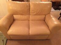 FREE 2 Seater Cream Leather Sofa