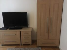 Bedroom furniture and TV for sale