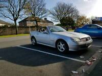 Convertible 2001 Mercedes Benz SLK with 11 months mot ,roof all working , full leather ,px welcome