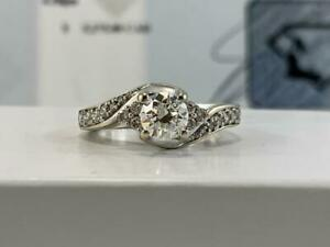 #325 14K BEAUTIFUL White Gold Ladies Diamond Engagement Ring .99CTW *Size 4 12* Appraised at $5275, Selling For $1595